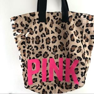 VS PINK Leopard Print Tote Bag